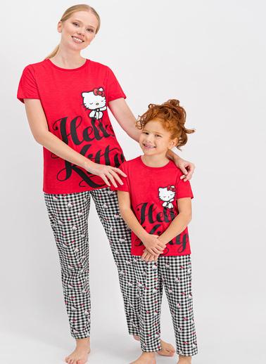 Hello Kitty Pijama Takım Kırmızı